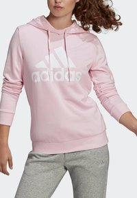 adidas Performance - ESSENTIALS RELAXED LOGO HOODIE - Felpa con cappuccio - pink - 5