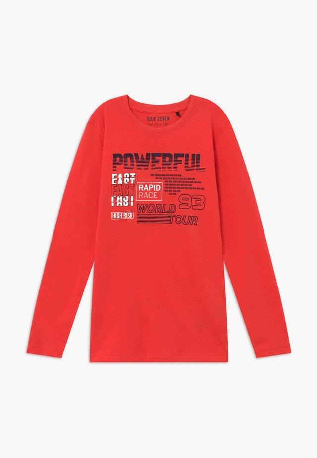 TEENS RACING  - Camiseta de manga larga - tomate