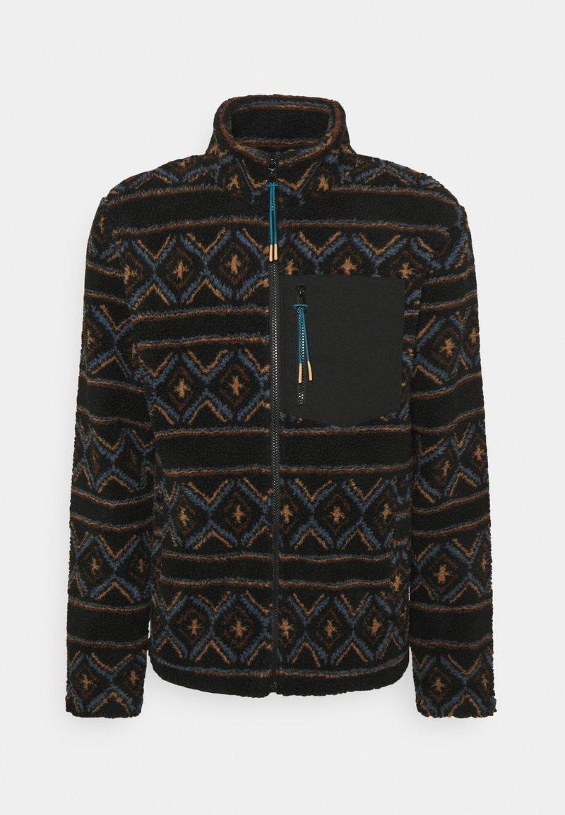 REVOLUTION - PRINTED FLEECE - Fleece jacket - black