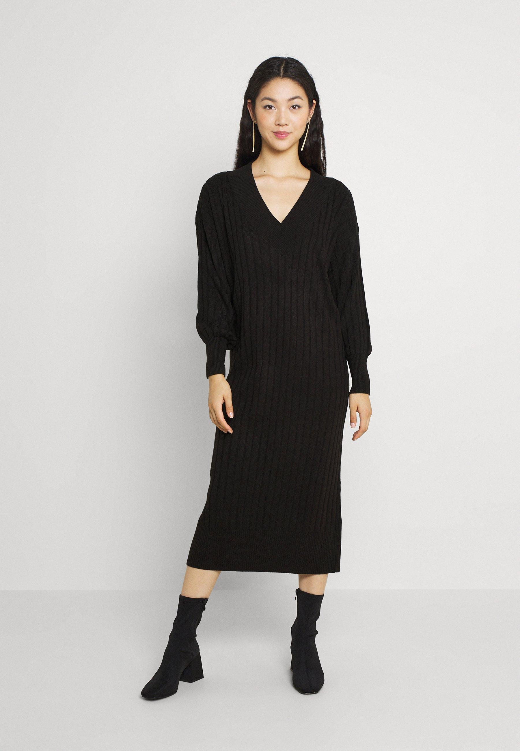 Women ONLNEW TESSA MIDI V NECK DRESS - Jumper dress