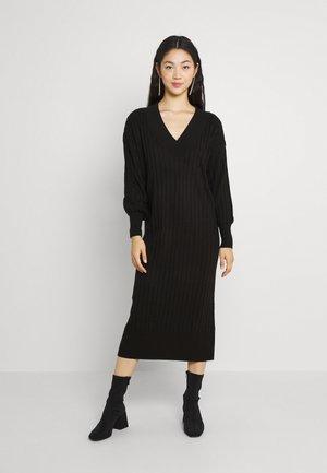ONLNEW TESSA MIDI V NECK DRESS - Jumper dress - black