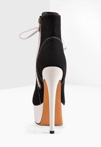 Only Maker - Lace-up ankle boots - black denim - 4