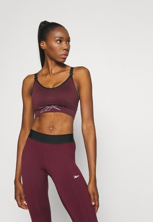 MATERNITY BRA - Medium support sports bra - maroon