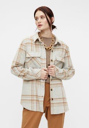 OBJVERA - Summer jacket - light grey melange