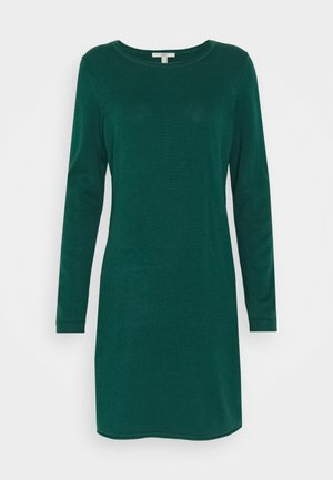DRESS - Strikket kjole - dark teal green