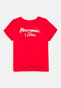 Abercrombie & Fitch - SHINE TWIST FRONT - Triko s potiskem - red - 0