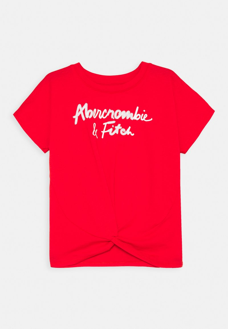 Abercrombie & Fitch - SHINE TWIST FRONT - Triko s potiskem - red