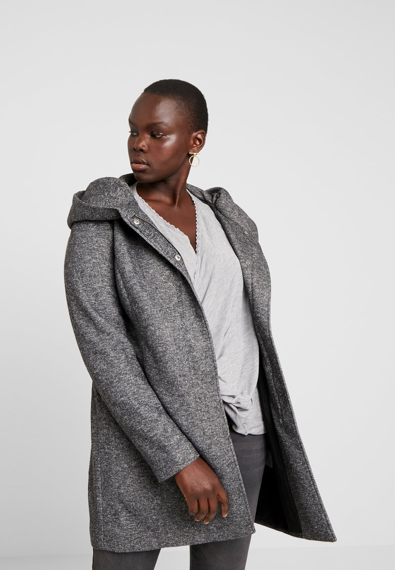 ONLY Carmakoma - CARSEDONA  - Short coat - dark grey melange