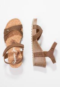 Panama Jack - JULIA SNAKE - Sandály na platformě - cognac - 3