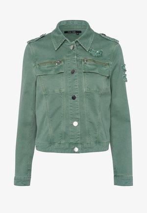 Denim jacket - dark jade varied