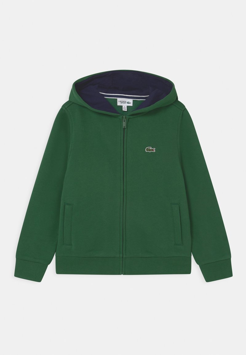 Lacoste Sport - HOODED UNISEX - Zip-up hoodie - green/navy blue