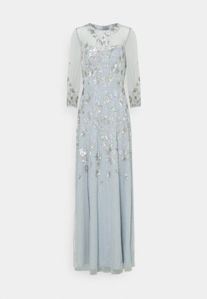 BEADED COVERED COCKTAIL LONG - Robe de cocktail - blue heather