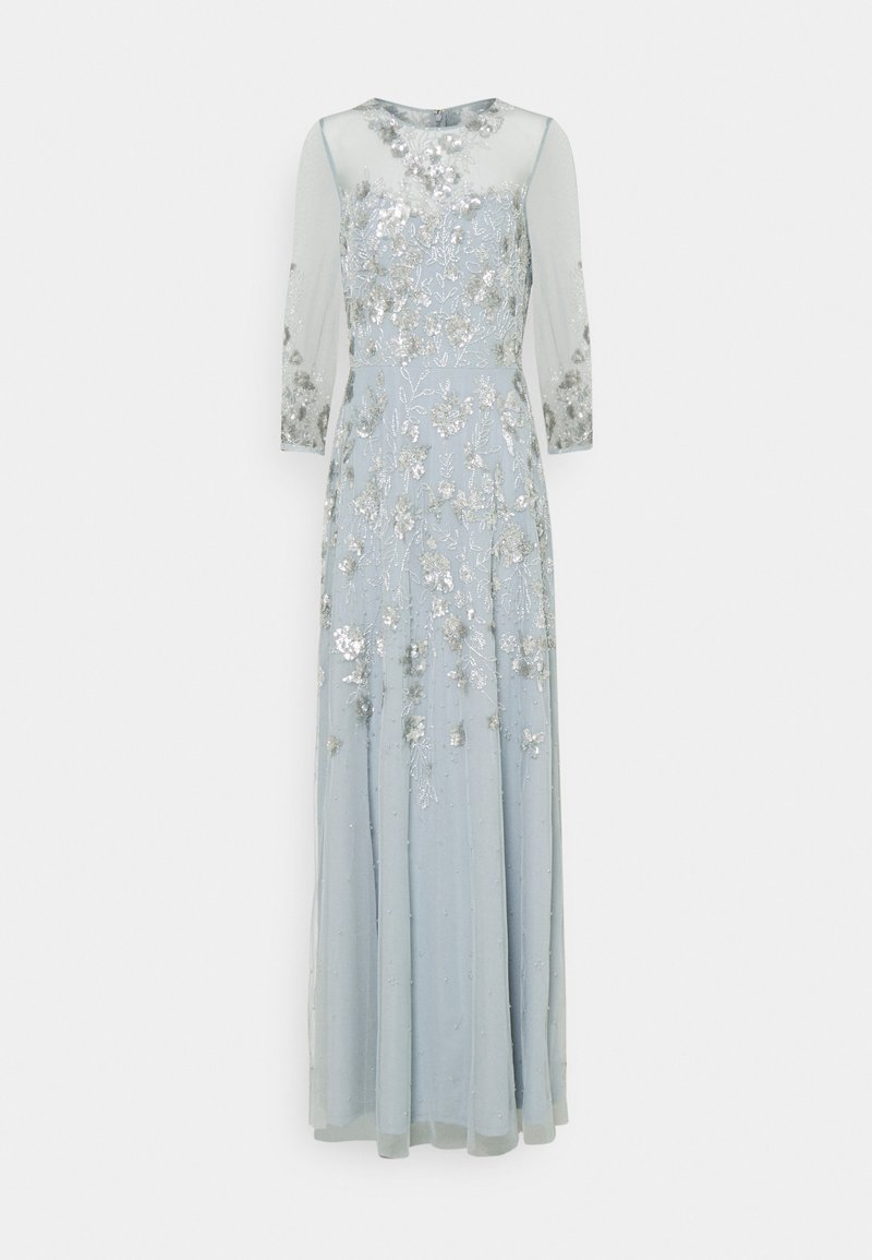 Adrianna Papell - BEADED COVERED COCKTAIL LONG - Galajurk - blue heather