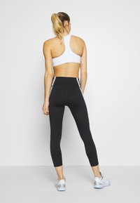Nike Performance - ONE CROP - Collants - black/white - 2