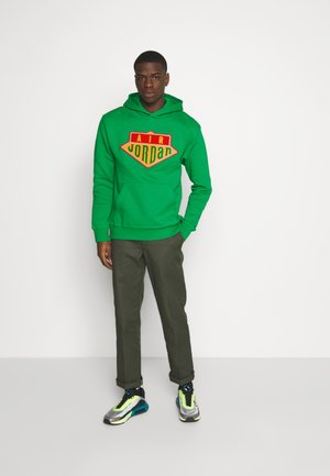 HOODIE - Sweatshirts - lucky green/track red