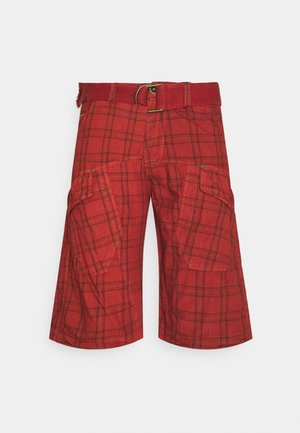CHECKED SHORT - Shorts - vintage red