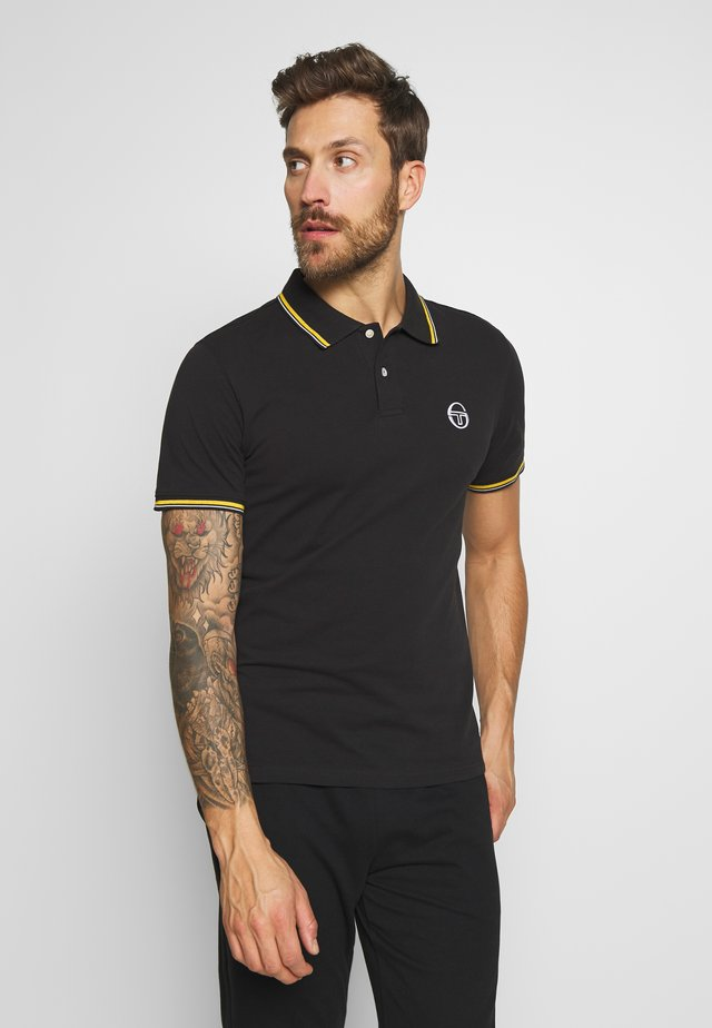 SERGIO 020 POLO - Polo shirt - black/saffron yellow