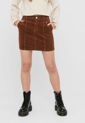 Mini skirt - tobacco brown