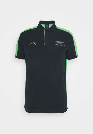 BLOCK PIPING - Poloshirt - navy/green