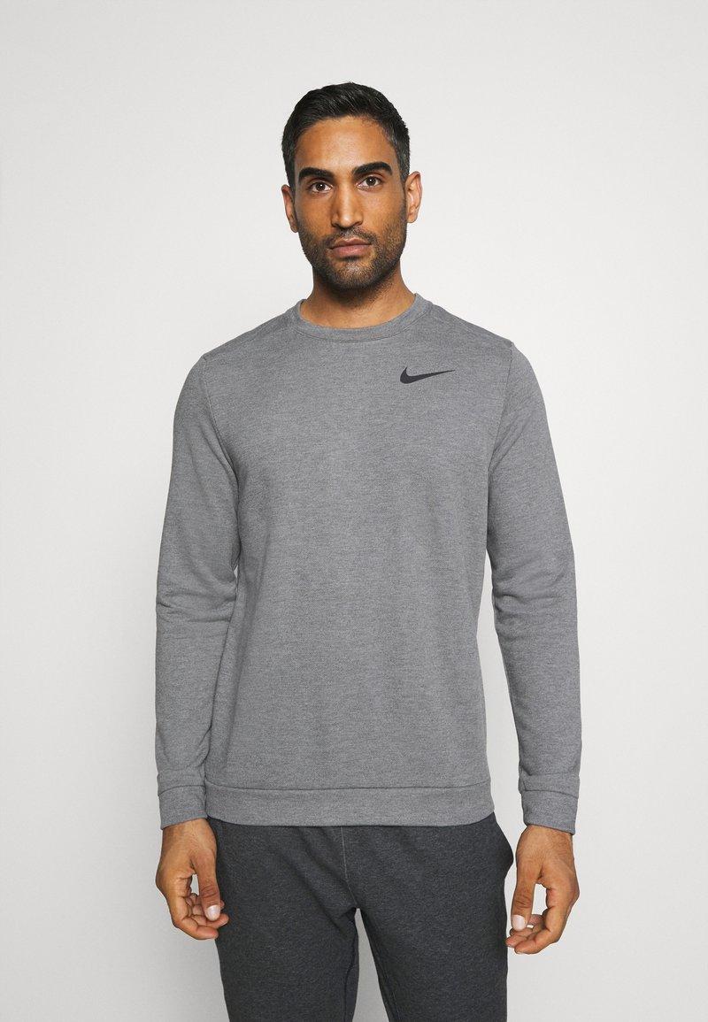 Nike Performance - DRY CREW - Sweater - charcoal heathr/black