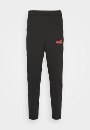CASUALS PANT - Tracksuit bottoms - black/fizzy orange