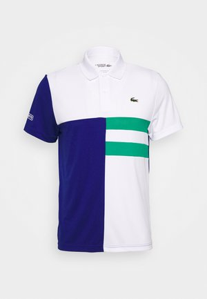 TENNIS - Sports shirt - white/cosmic/greenfinch/white