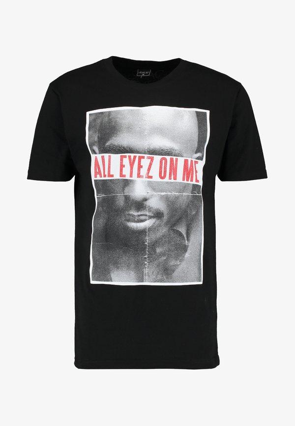 Mister Tee 2PAC ALL EYEZ ON ME - T-shirt z nadrukiem - black/czarny Odzież Męska VWFK