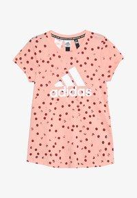 adidas Performance - TEE - Print T-shirt - pink/maroon/white - 2