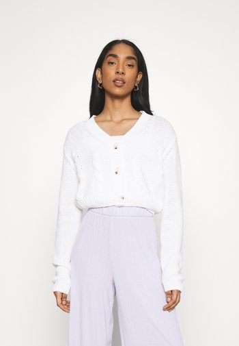TWO BECOME ONE CARDI CAMI SET - Cardigan - white