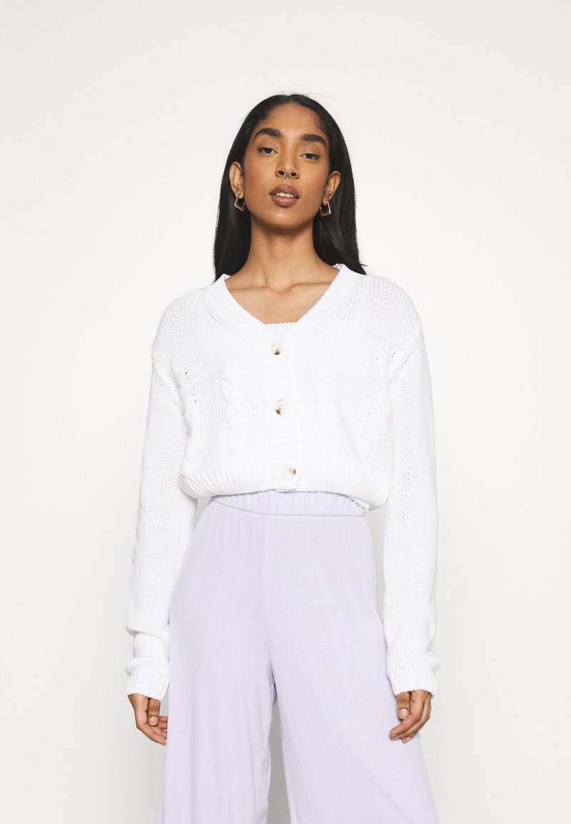 Cotton On - TWO BECOME ONE CARDI CAMI SET - Cardigan - white