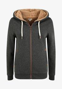 Oxmo - VICKY PILE - Zip-up hoodie - dar grey m - 5