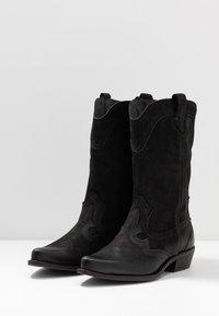 Felmini Wide Fit - GERBBERA - Cowboy/Biker boots - morgan black - 4
