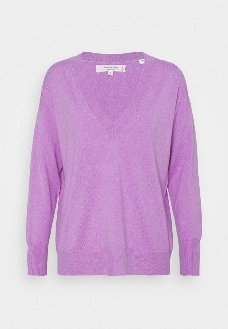 CHINTI & PARKER - V NECK - Pullover - lilac