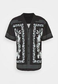 BORDER REVERE SHIRT - Košile - black