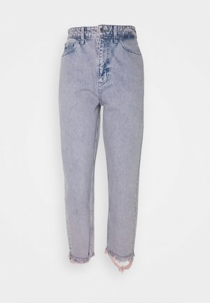 CROP MOM PANT - Jeans Relaxed Fit - victoria blue pink