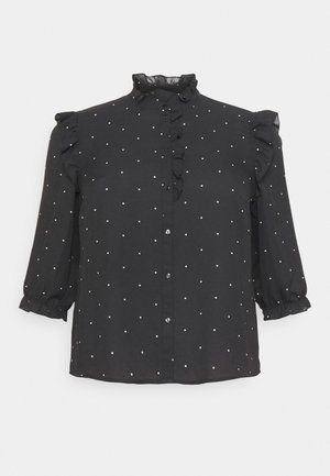 VMMARLEY - Button-down blouse - black/birch