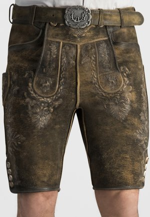 TIMO - Lederhose - brown