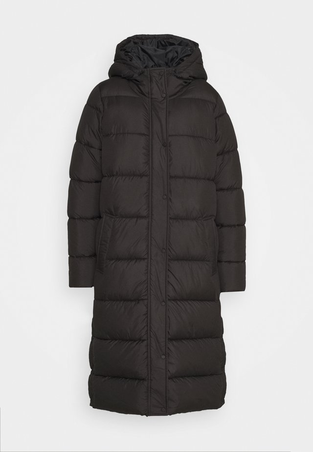 ONLNEWCAMMIE LONG QUILTED COAT - Vinterkappa /-rock - black