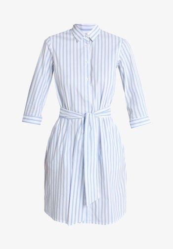 Shirt dress - weiß/hellblau