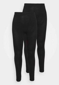 Dorothy Perkins Curve - 2 PACK  - Leggings - Trousers - black - 3