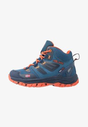 KIDS RONDANE HIKER MID - Hiking shoes - mystic blue/orange