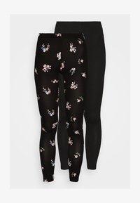 Even&Odd - 2 PACK - Leggings - black/multicolor - 4