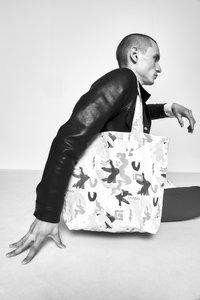 STUDIO ID - TOTE BAG M  - Tote bag - multi-coloured/light pink - 1