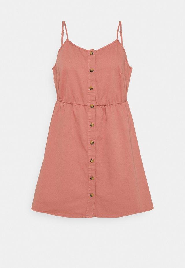 VMFLICKA STRAP SHORT DRESS - Denimové šaty - old rose