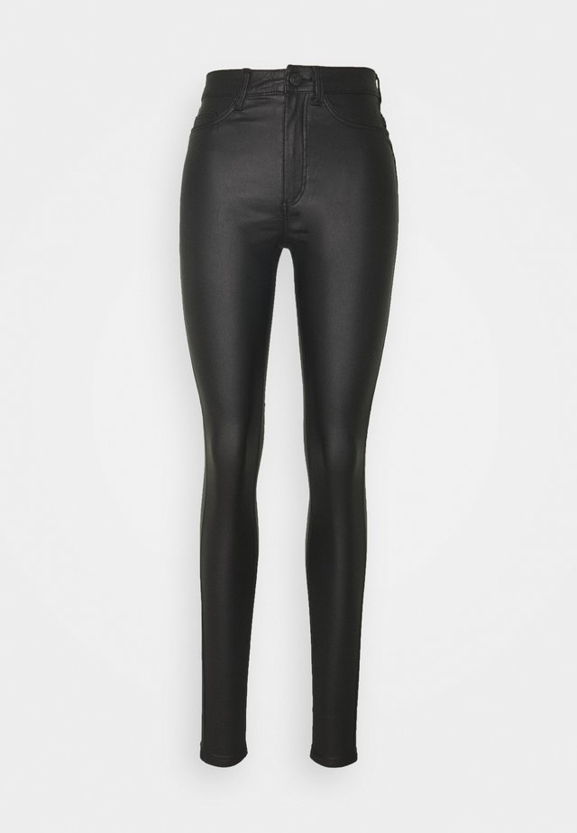 NMCALLIE COATED PANTS - Broek - black