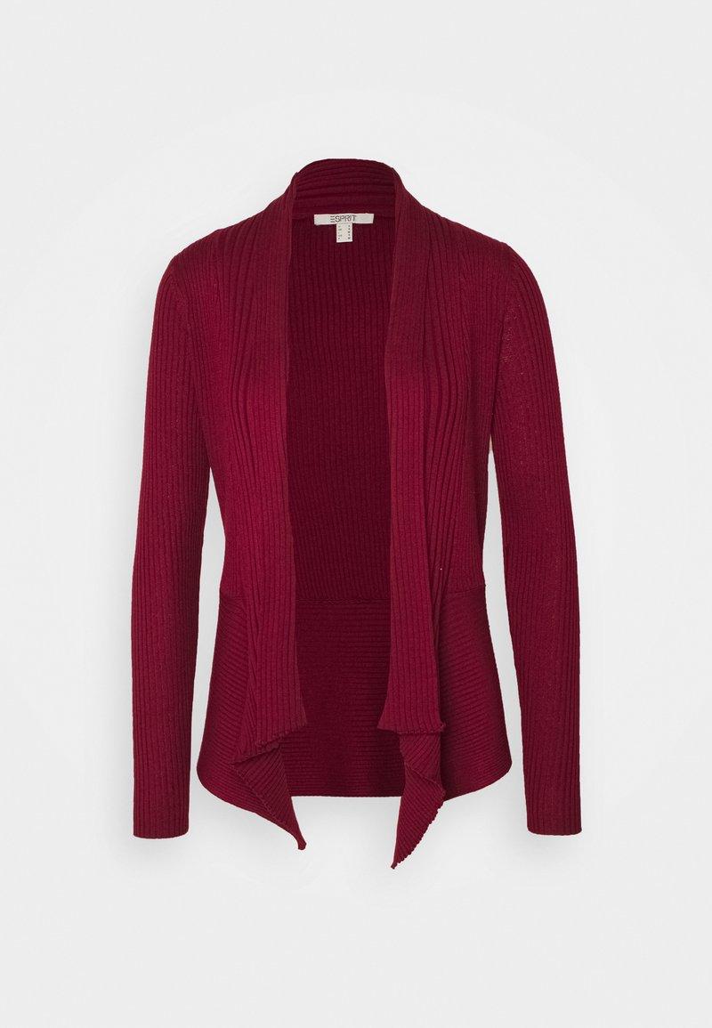 Esprit - CARDI - Cardigan - bordeaux red