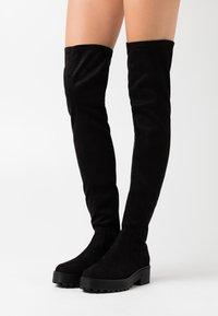 Even&Odd Wide Fit - Høye støvler - black - 0