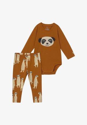 LEO & MEERKAT SET  - Leggings - brown