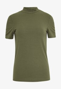 Pieces - PCKYLIE T NECK - T-shirt basic - deep lichen green - 4