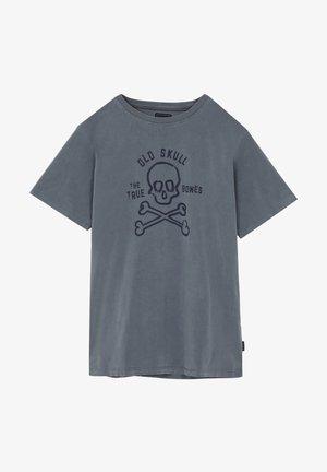 BONES TEE - T-shirt print - navy